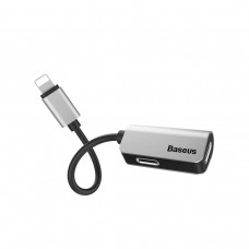 Baseus iP Male to iP+iP Female Adapter L37 Silver