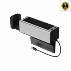 Baseus Deluxe Metal Armrest Console Organizer(dual USB power supply)Silver
