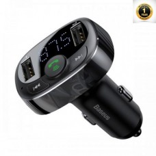 Baseus T typed S-09A Bluetooth MP3 car charger (Standard editition) Black