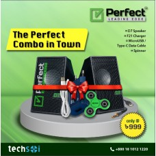 Combo Offer ( Perfect D7, F21 Charger, Micro USB/ Type- C Data Cable and Spinner )