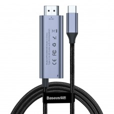 Baseus C-Video Functional Notebook Cable(C TO HDMI+PD) 1.8m Dark Gray
