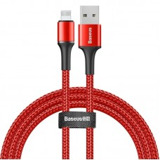 Baseus Halo Data Cable USB For iP 2.4A 1m Red