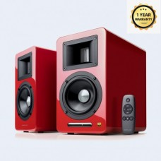Airpulse A100 Hi-Res Audio Certified Active Speaker System Built-in Amplifier - Pair Red