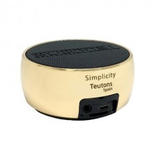 Teutons Simplicity Metallic Bluetooth Speaker 5W (Gold)